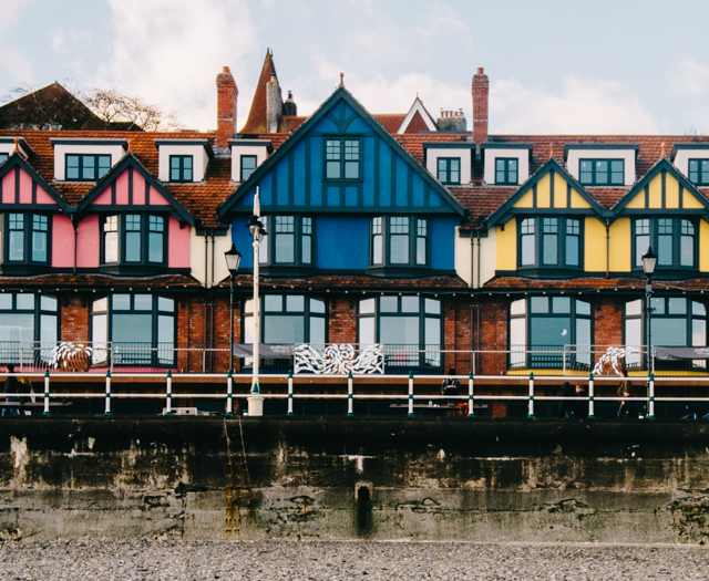 colourful houses on seafront