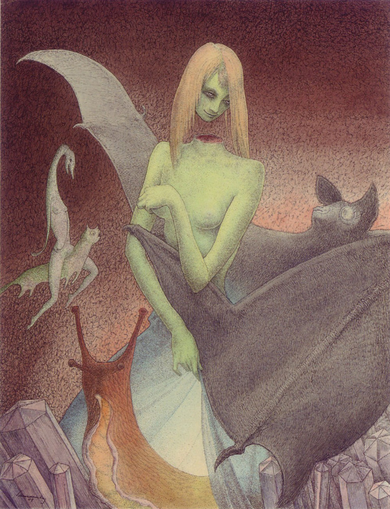 Walter Schnackenberg - The decapitated girl and the bat (1949)