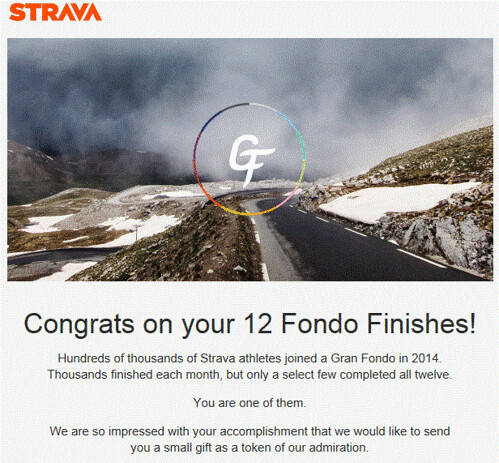 Strava GranFondo Prize
