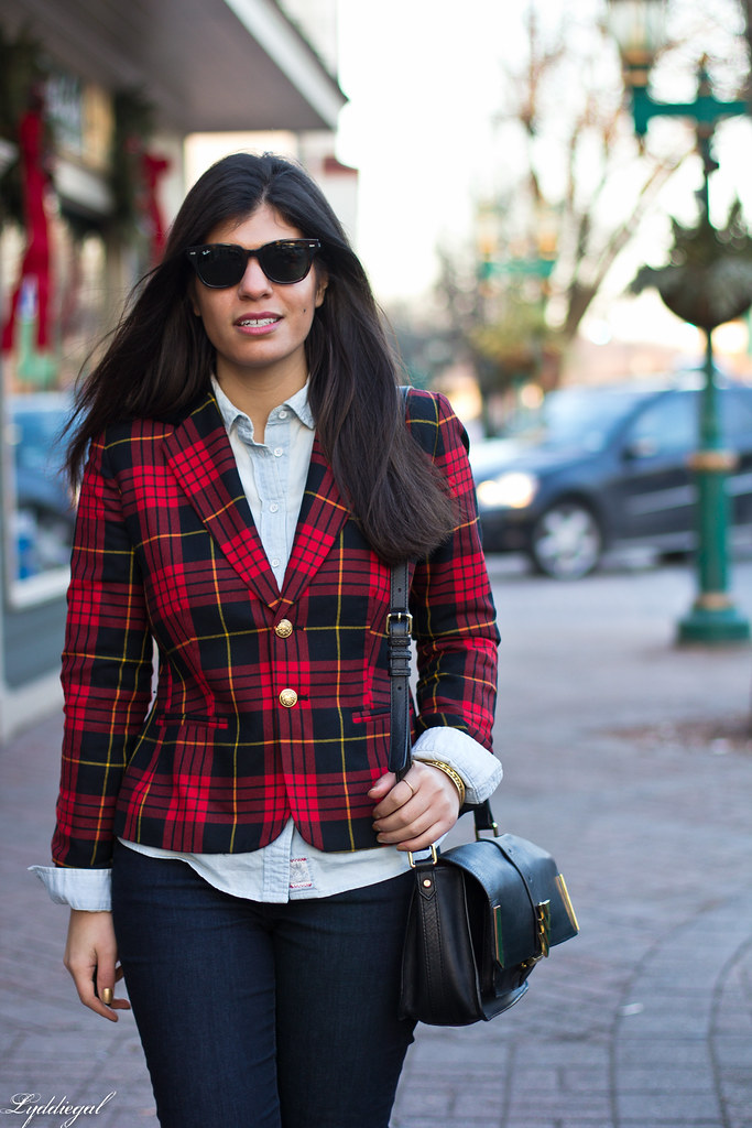 Double Denim, Plaid Blazer.jpg