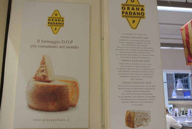 Grana Padano sign at Eataly Torino Lingotto