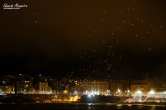 Lanzamiento de farolillo en San Juan