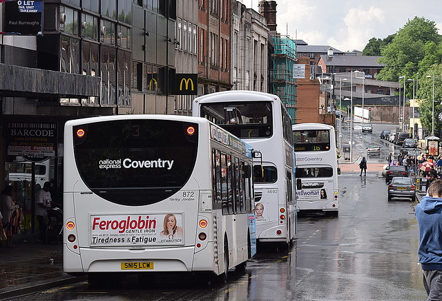 Buses on Burges, Coventry