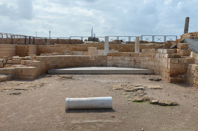 The Byzantine Bathhouse built in the 4th century AD, Caesarea Maritima, Israel