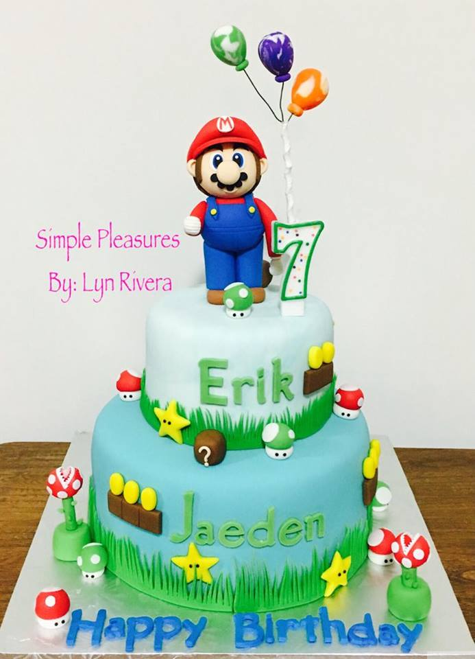 3D Super Mario Themed Cake by Lyn Eugenio-Rivera