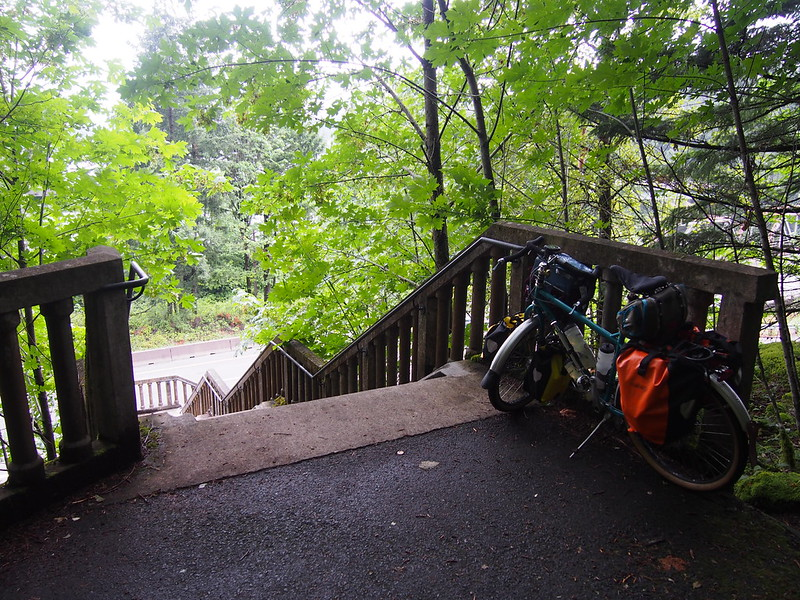 Historic Columbia River Highway State Trail: Staircase: An instant failure in my book!