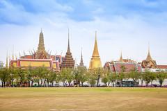 Temple of the Emerald Buddha (Wat Phra Kaew). - The historic center of Bangkok, Thailand.