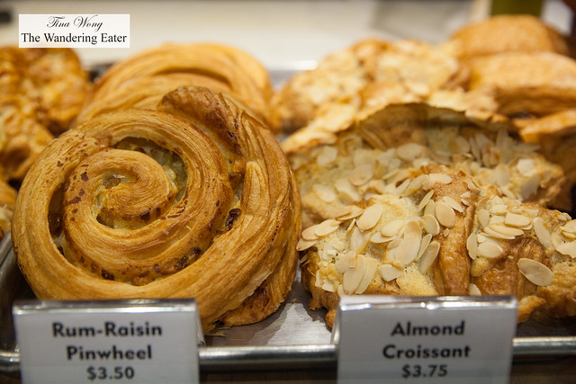 Rum-Raisin Pinwheels and Almond Croissants