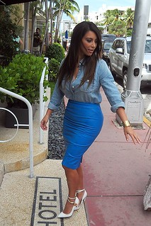 Kim Kardahian White Pumps Celebrity Style Women's Fashion