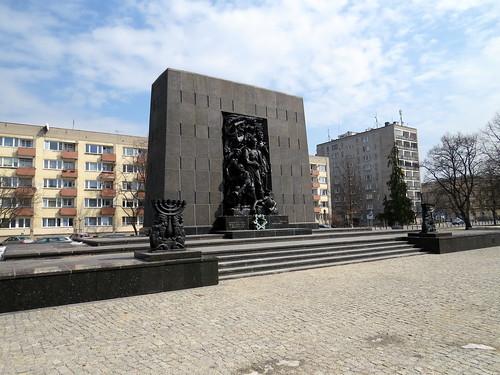 Monument to the Ghetto Heroes - Pomnik Bohaterów Getta - Warsaw, Poland - Warszawa, Polska