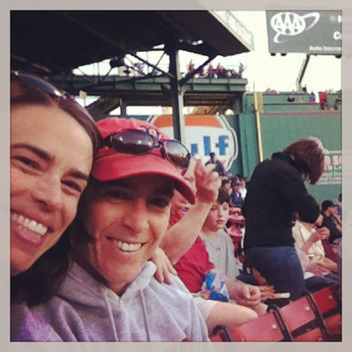 Megan + Amy at Fenway