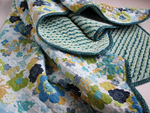 Chenille blanket, floral