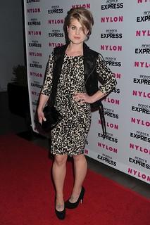 Kelly Osbourne Leather Vest Celebrity Style Women's Fashion