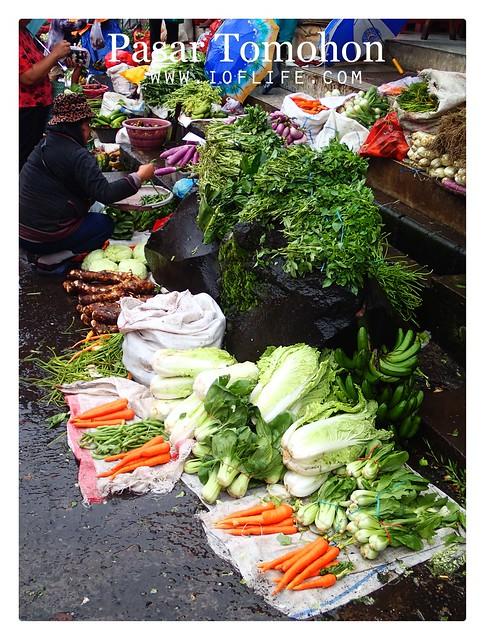 sayuran pasar tomohon