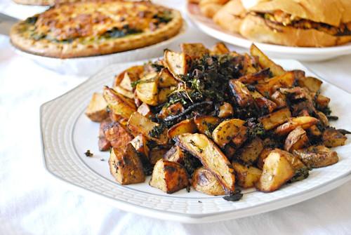 Roasted Potatoes & Kale