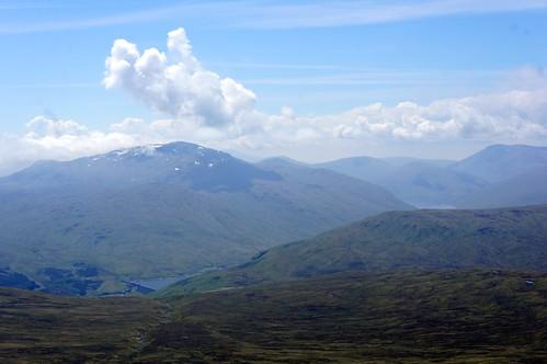 Beinn Sheasgarnaich and Loch Lyon from the summit of Stuchd an Lochain
