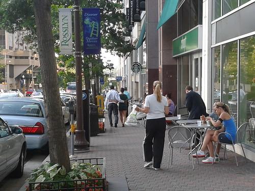 Rosslyn sidewalk