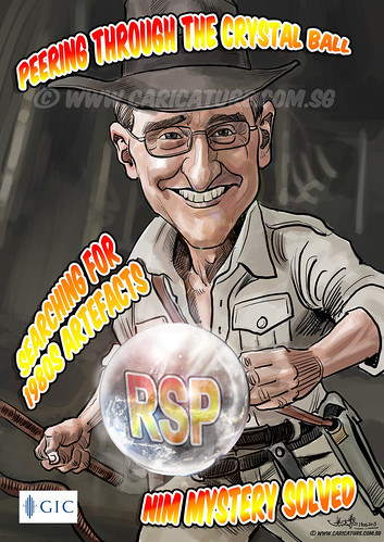 Indiana Jones caricature for GIC