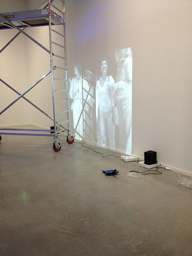 'Hole in Space' by Kit Galloway & Sherrie Rabinowitz being set up at @lapanace