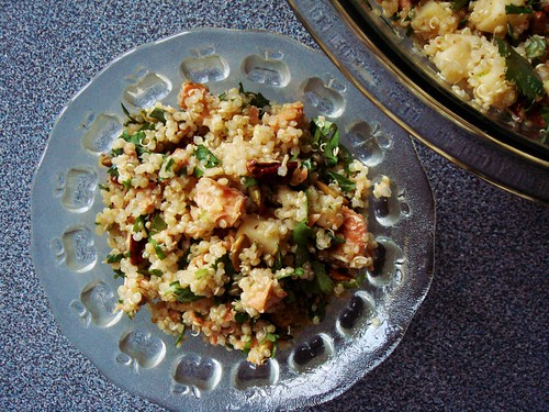 Salmon Quinoa Salad in Maple Lime Dressing