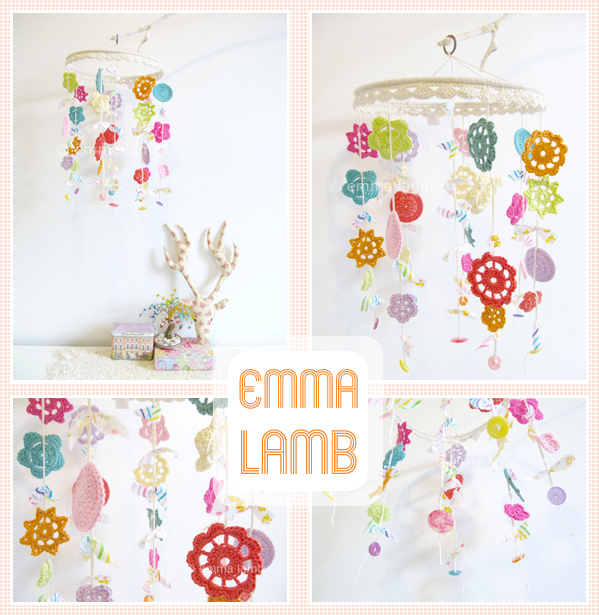 Custom length and colourway of my large Merry Mobile design : neon pastels | Emma Lamb