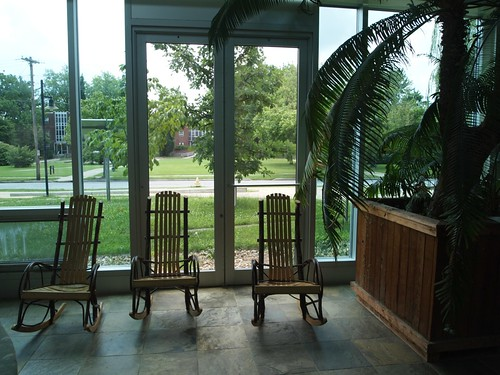 Oberlin College Visit - Love the rocking chairs for studying