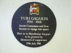 Photo of Yuri Gagarin black plaque