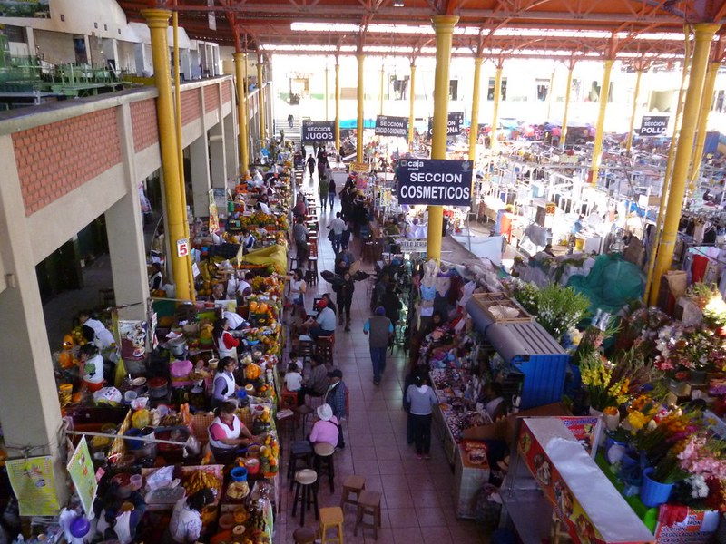 Juice stalls at San Camilo market