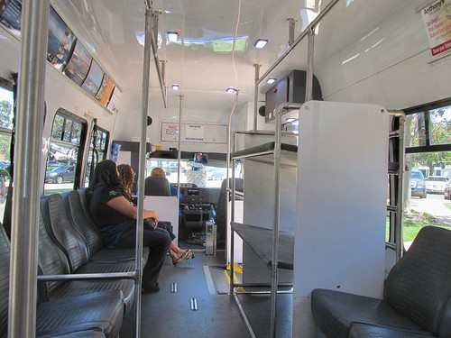 "Riding aboard the ""Big Bay Shuttle"" Ford mini bus.  San Diego California.  June 2013. by Eddie from Chicago"