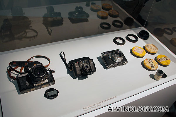 Cameras belonging to the Eames