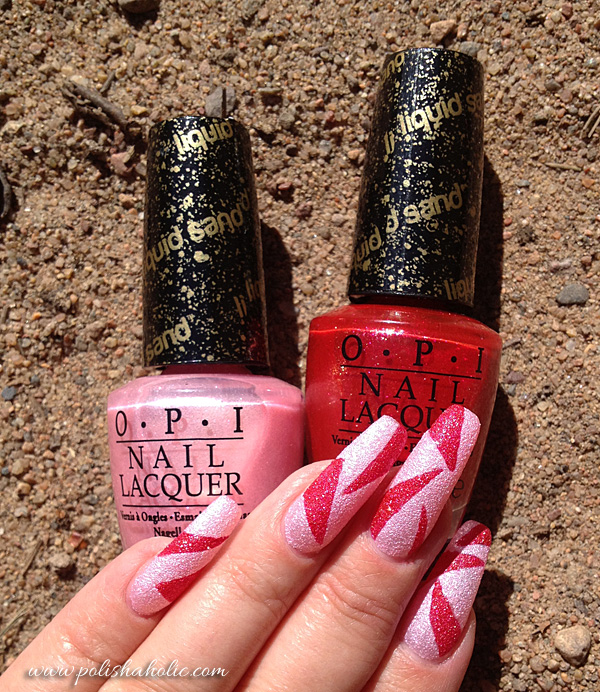 KellieGonzo: Guest Post by RiaG Polishaholic: OPI Liquid Sand Nail Art