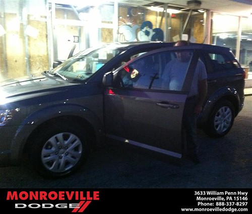 Thank you to Peter Mullikern on the 2013 Dodge Journey from Brandon Weekley and everyone at Monroeville Dodge! by Monroeville Dodge
