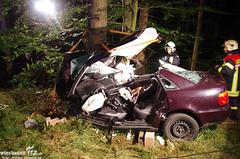 Schwerer Verkehrsunfall B8 Waldems-Esch 20.08.13