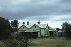 Carrieton Railway station in South Australia. This was on the 1880 connector line from Peterborough to Quorn. Thus Carrieton was on the main line to Perth until 1936.