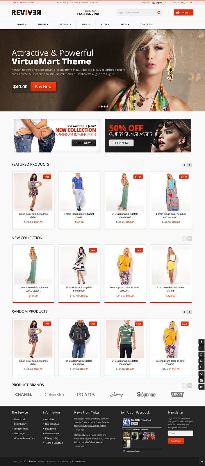 Reviver - Responsive Multipurpose VirtueMart Theme