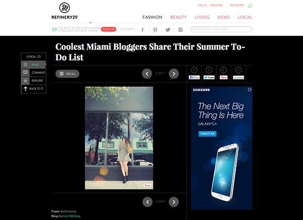 R29 - Coolest Miami Bloggers