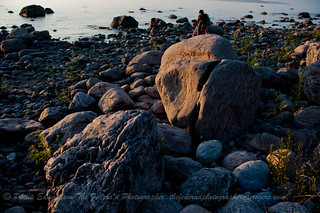 Sunset Lit Rock