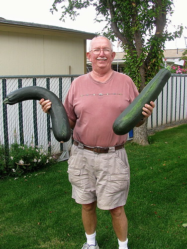 Dad and his ridiculous zucchini!