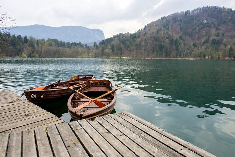 Row boat at lake bled