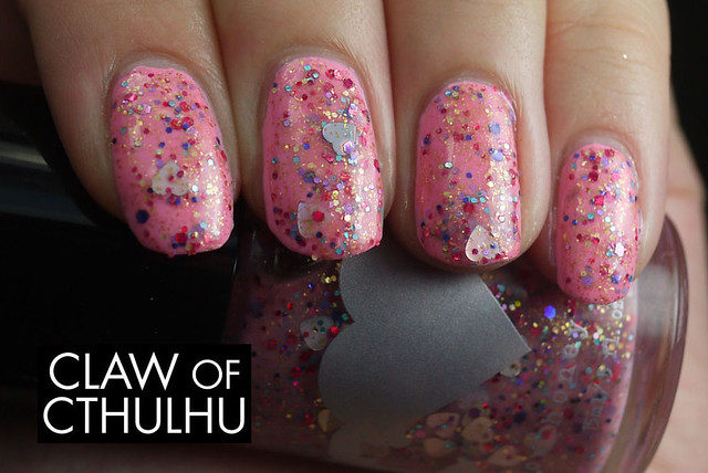OPI Pink Friday Swatch (with Rainbow Honey Power of Love)