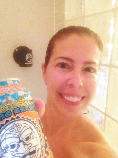 Shower beer with Sun King