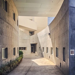 Cavernous Concrete // #concrete #deathstar #social #science #building #ucdavis #design #light