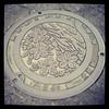 Photo:福島県田村市の「大滝根」の刻印のあるマンホール By Atsushi Boulder