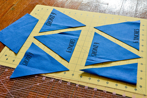 "Step 12: Keep Cutting 6"" Triangles"