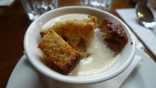 Banana Bread Pudding w/ Vanilla Rum Cream