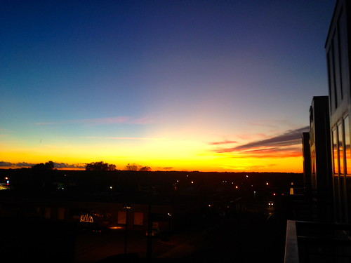 Fall sunrise in Charlotte