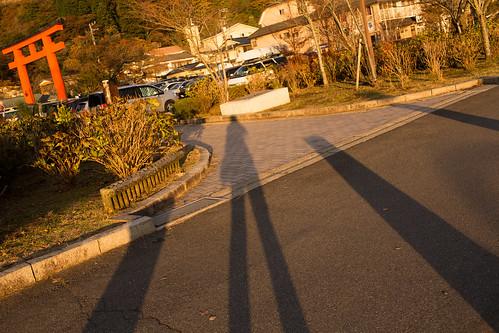 sunset shadow japan 日本 hakone 箱根