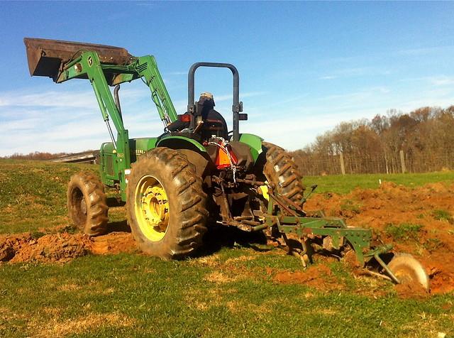 moldboard plow at HGC farm - 2
