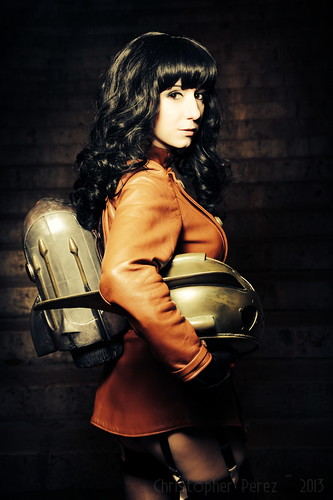 Betty Page Rocketeer ~ by Riddle