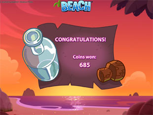 Beach free spins prize